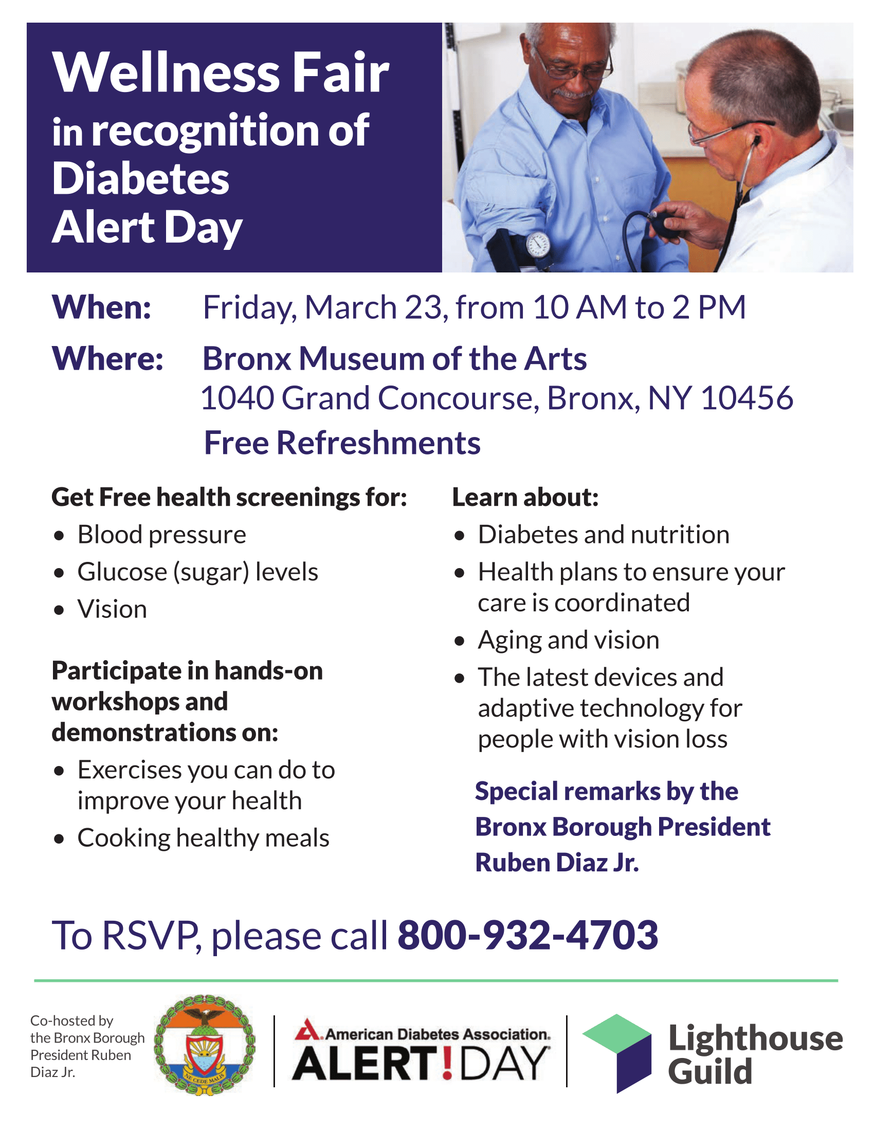 wellness fair in recognition of diabetes alert day the bronx