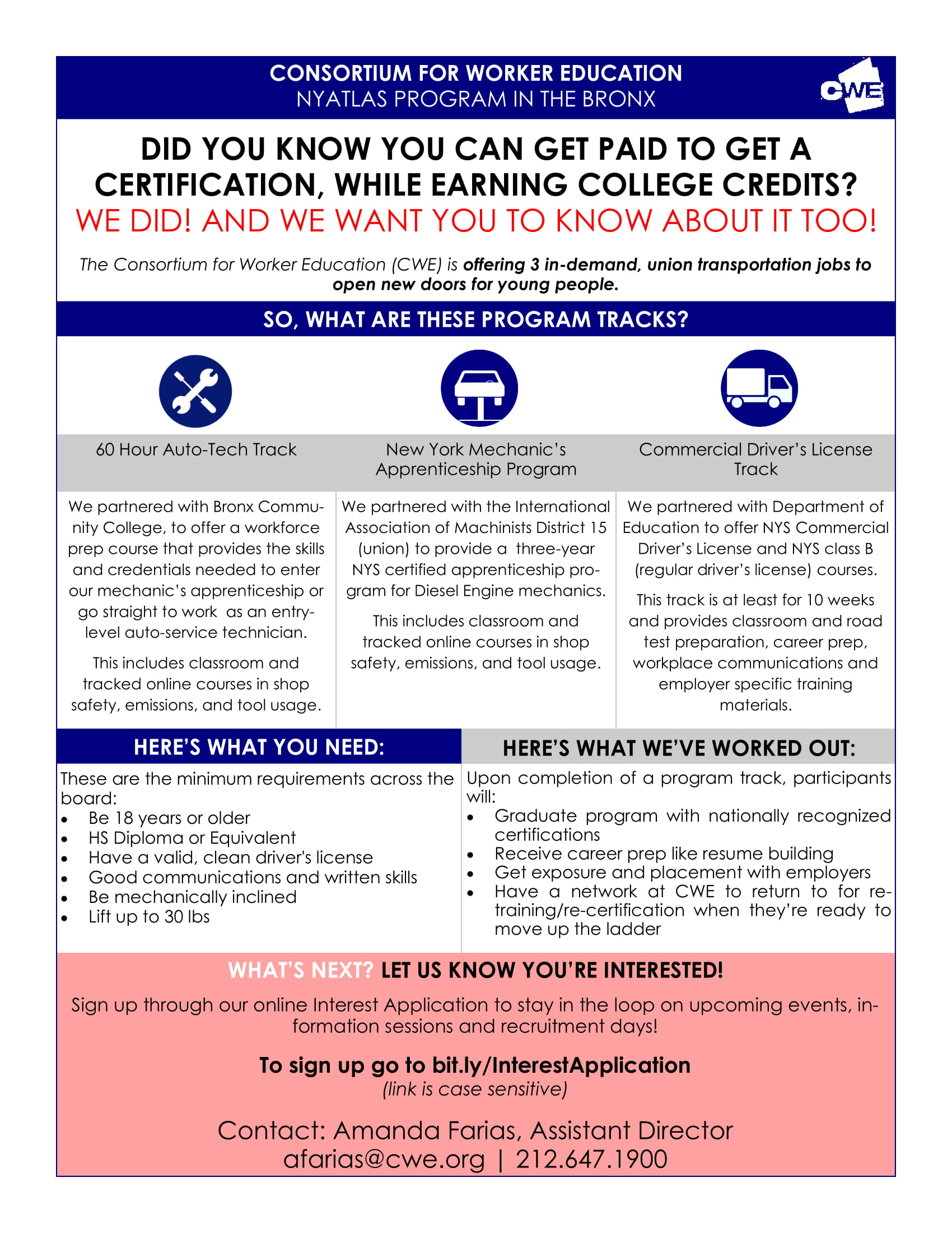 The CWE NYATLAS Initiative: Paid Job Training Opportunity in