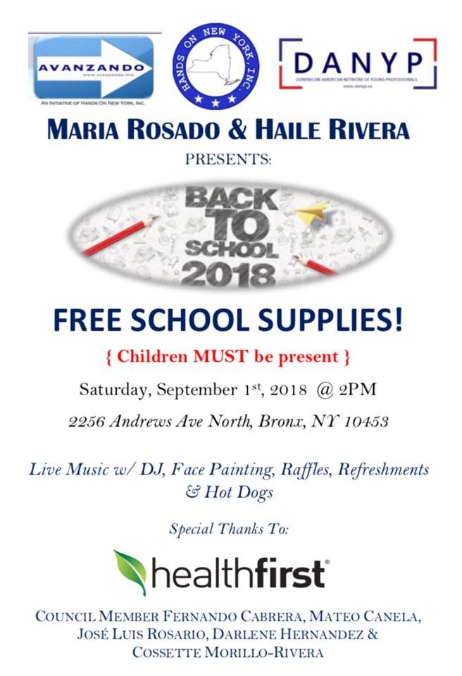 Back to School 2018: Free School Supplies - This Is The Bronx