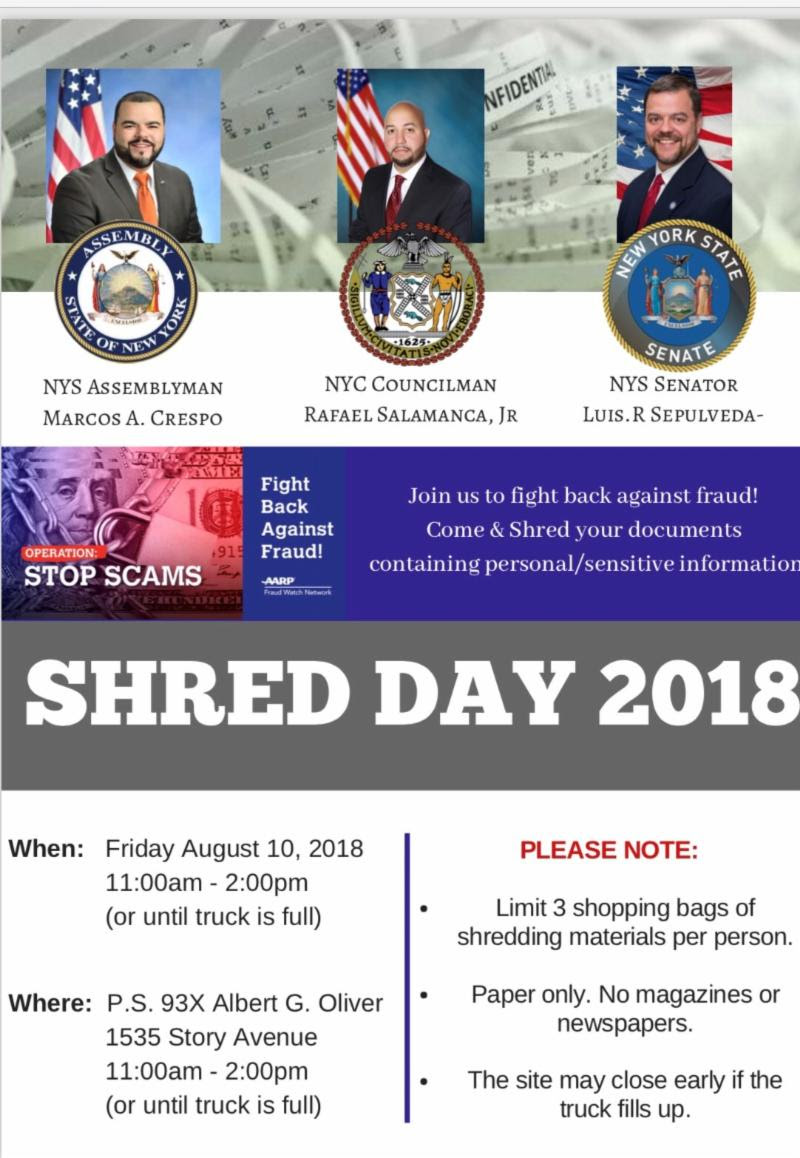 Shred Day 2018 at P S  093 Albert G  Oliver - This Is The Bronx