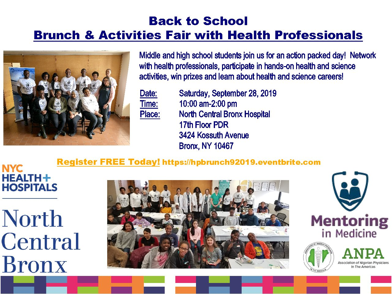Brunch w/ Health Professionals: for middle and high school